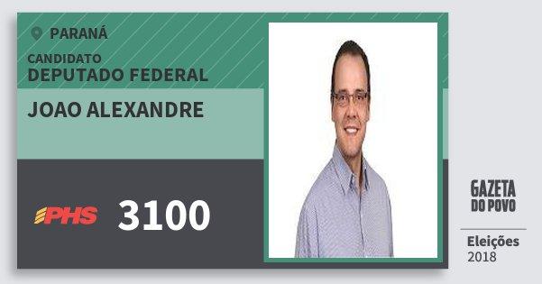 Santinho Joao Alexandre 3100 (PHS) Deputado Federal | Paraná | Eleições 2018