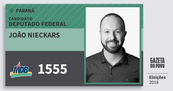 Santinho João Nieckars 1555 (MDB) Deputado Federal | Paraná | Eleições 2018