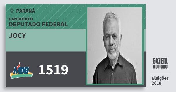 Santinho Jocy 1519 (MDB) Deputado Federal | Paraná | Eleições 2018