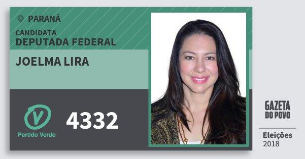Santinho Joelma Lira 4332 (PV) Deputada Federal | Paraná | Eleições 2018