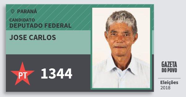 Santinho Jose Carlos 1344 (PT) Deputado Federal | Paraná | Eleições 2018
