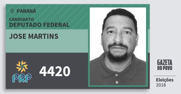 Santinho Jose Martins 4420 (PRP) Deputado Federal | Paraná | Eleições 2018