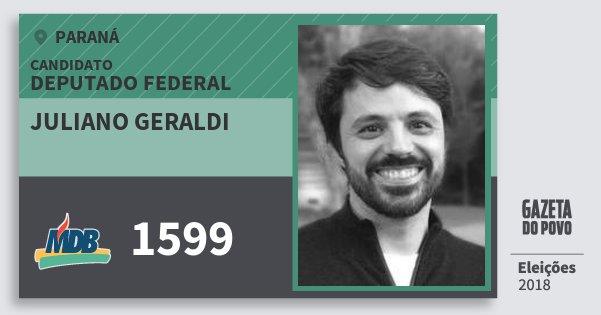 Santinho Juliano Geraldi 1599 (MDB) Deputado Federal | Paraná | Eleições 2018