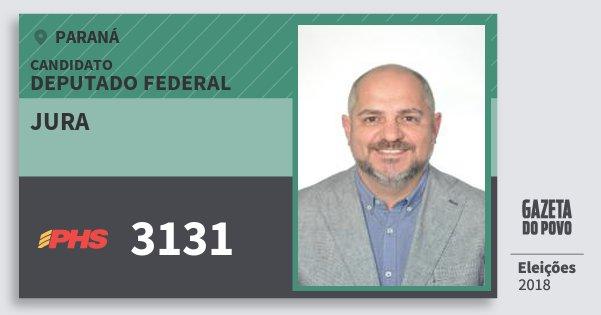 Santinho Jura 3131 (PHS) Deputado Federal | Paraná | Eleições 2018