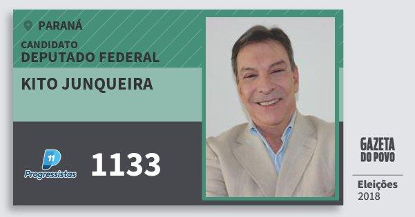 Santinho Kito Junqueira 1133 (PP) Deputado Federal | Paraná | Eleições 2018
