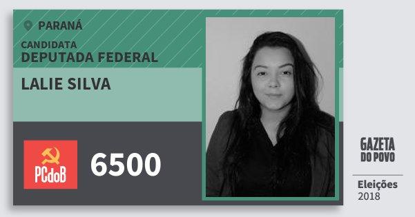 Santinho Lalie Silva 6500 (PC do B) Deputada Federal   Paraná   Eleições 2018