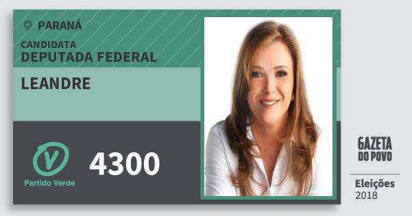 Santinho Leandre 4300 (PV) Deputada Federal | Paraná | Eleições 2018