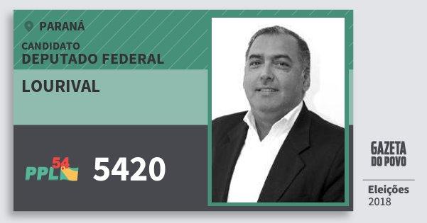 Santinho Lourival 5420 (PPL) Deputado Federal | Paraná | Eleições 2018