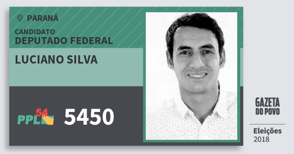 Santinho Luciano Silva 5450 (PPL) Deputado Federal | Paraná | Eleições 2018