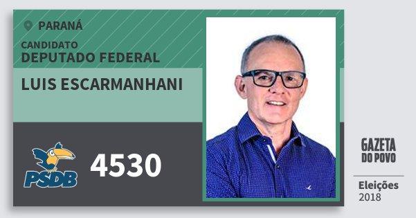 Santinho Luis Escarmanhani 4530 (PSDB) Deputado Federal | Paraná | Eleições 2018