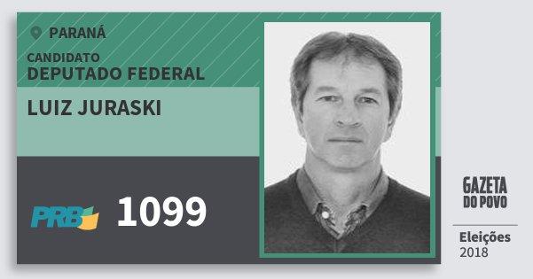 Santinho Luiz Juraski 1099 (PRB) Deputado Federal | Paraná | Eleições 2018