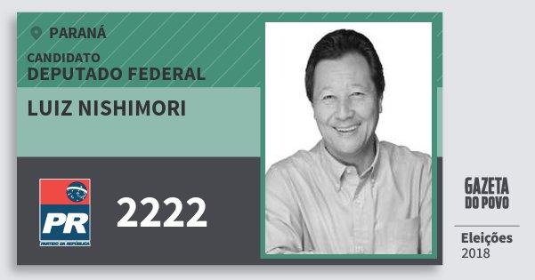 Santinho Luiz Nishimori 2222 (PR) Deputado Federal | Paraná | Eleições 2018