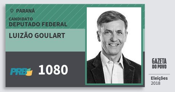 Santinho Luizão Goulart 1080 (PRB) Deputado Federal | Paraná | Eleições 2018