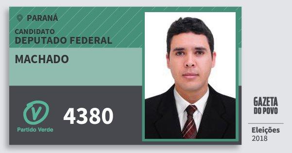 Santinho Machado 4380 (PV) Deputado Federal | Paraná | Eleições 2018