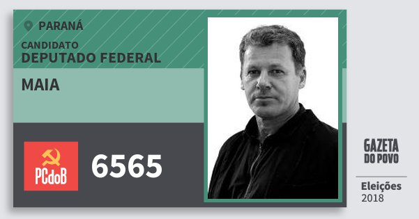 Santinho Maia 6565 (PC do B) Deputado Federal | Paraná | Eleições 2018