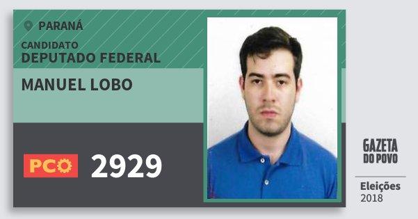Santinho Manuel Lobo 2929 (PCO) Deputado Federal | Paraná | Eleições 2018