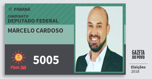 Santinho Marcelo Cardoso 5005 (PSOL) Deputado Federal | Paraná | Eleições 2018