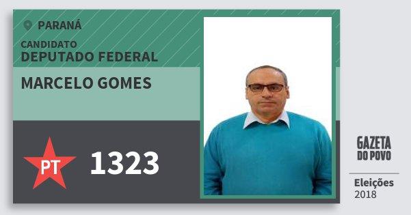 Santinho Marcelo Gomes 1323 (PT) Deputado Federal | Paraná | Eleições 2018