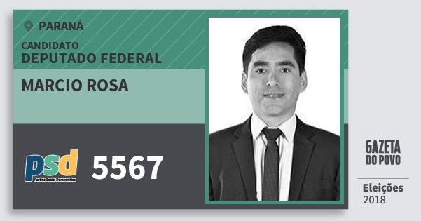 Santinho Marcio Rosa 5567 (PSD) Deputado Federal | Paraná | Eleições 2018
