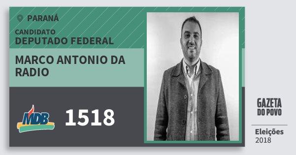 Santinho Marco Antonio da Radio 1518 (MDB) Deputado Federal | Paraná | Eleições 2018