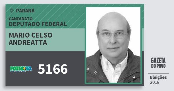 Santinho Mario Celso Andreatta 5166 (PATRI) Deputado Federal | Paraná | Eleições 2018