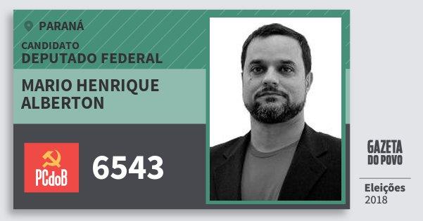 Santinho Mario Henrique Alberton 6543 (PC do B) Deputado Federal | Paraná | Eleições 2018