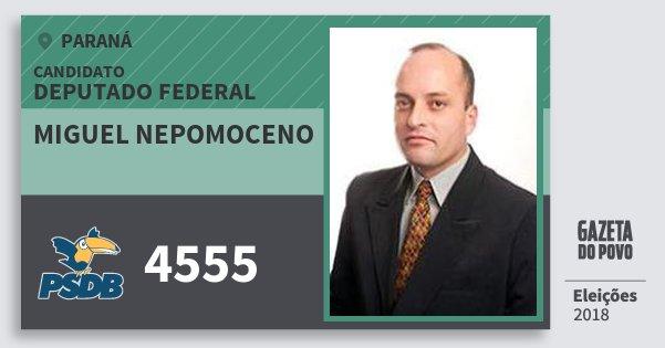 Santinho Miguel Nepomoceno 4555 (PSDB) Deputado Federal | Paraná | Eleições 2018