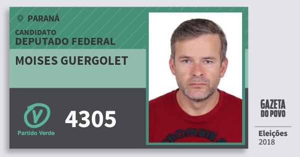 Santinho Moises Guergolet 4305 (PV) Deputado Federal | Paraná | Eleições 2018
