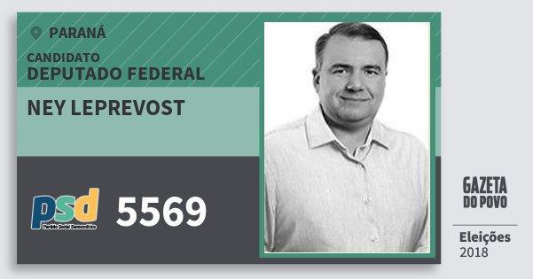 Santinho Ney Leprevost 5569 (PSD) Deputado Federal | Paraná | Eleições 2018