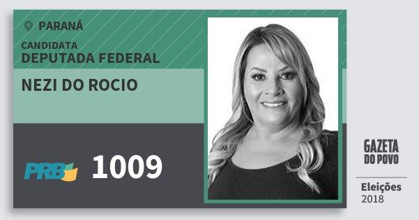 Santinho Nezi do Rocio 1009 (PRB) Deputada Federal | Paraná | Eleições 2018