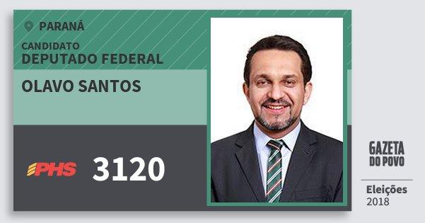 Santinho Olavo Santos 3120 (PHS) Deputado Federal | Paraná | Eleições 2018