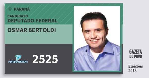 Santinho Osmar Bertoldi 2525 (DEM) Deputado Federal | Paraná | Eleições 2018