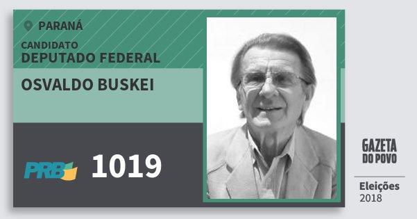 Santinho Osvaldo Buskei 1019 (PRB) Deputado Federal | Paraná | Eleições 2018