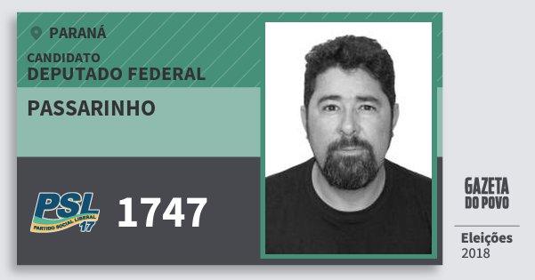 Santinho Passarinho 1747 (PSL) Deputado Federal | Paraná | Eleições 2018