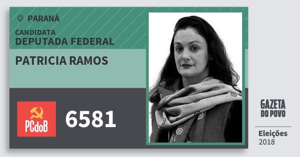 Santinho Patricia Ramos 6581 (PC do B) Deputada Federal | Paraná | Eleições 2018