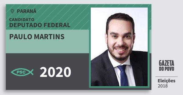 Santinho Paulo Martins 2020 (PSC) Deputado Federal | Paraná | Eleições 2018