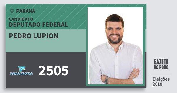 Santinho Pedro Lupion 2505 (DEM) Deputado Federal | Paraná | Eleições 2018