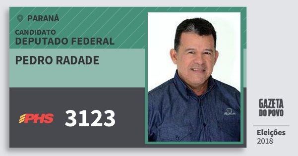 Santinho Pedro Radade 3123 (PHS) Deputado Federal | Paraná | Eleições 2018