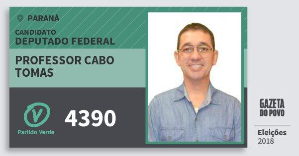 Santinho Professor Cabo Tomas 4390 (PV) Deputado Federal | Paraná | Eleições 2018