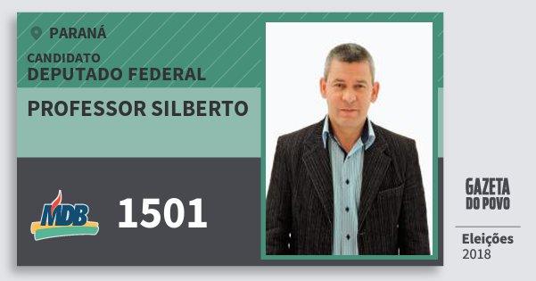 Santinho Professor Silberto 1501 (MDB) Deputado Federal | Paraná | Eleições 2018