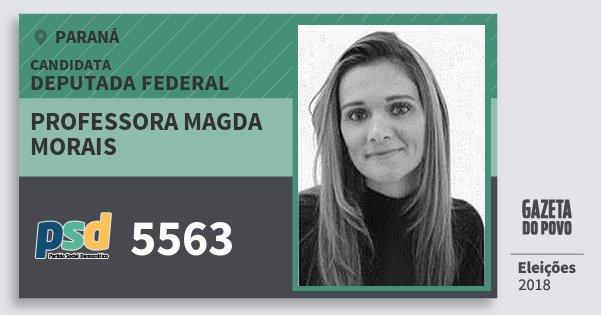 Santinho Professora Magda Morais 5563 (PSD) Deputada Federal | Paraná | Eleições 2018