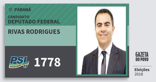 Santinho Rivas Rodrigues 1778 (PSL) Deputado Federal | Paraná | Eleições 2018
