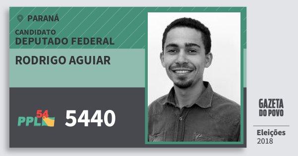 Santinho Rodrigo Aguiar 5440 (PPL) Deputado Federal | Paraná | Eleições 2018