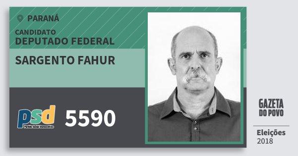 Santinho Sargento Fahur 5590 (PSD) Deputado Federal | Paraná | Eleições 2018
