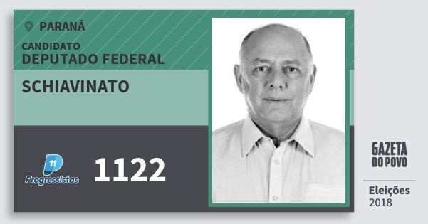 Santinho Schiavinato 1122 (PP) Deputado Federal | Paraná | Eleições 2018