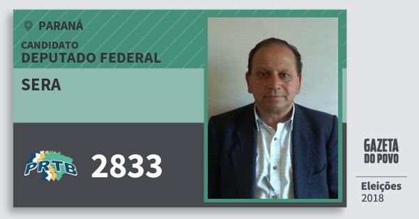 Santinho Sera 2833 (PRTB) Deputado Federal | Paraná | Eleições 2018