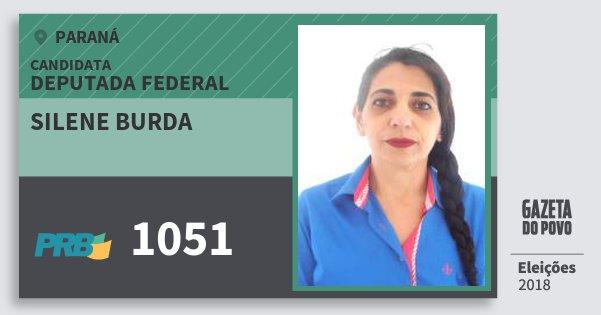 Santinho Silene Burda 1051 (PRB) Deputada Federal | Paraná | Eleições 2018