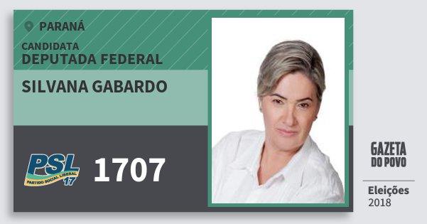 Santinho Silvana Gabardo 1707 (PSL) Deputada Federal | Paraná | Eleições 2018