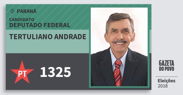 Santinho Tertuliano Andrade 1325 (PT) Deputado Federal | Paraná | Eleições 2018