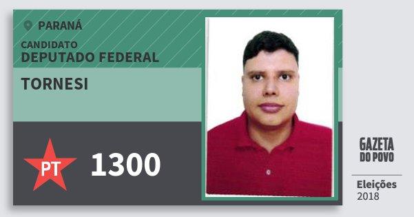 Santinho Tornesi 1300 (PT) Deputado Federal | Paraná | Eleições 2018